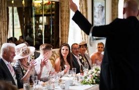 David amazes the top table at Butterley Grange Mansion, Derbyshire.