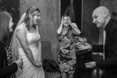 Midlands Magician David Fox entertaining wedding guests with some close-up magic.