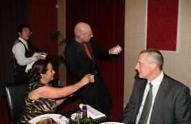 Photo of Midlands Magician David Fox astounding guests at Corporate Event